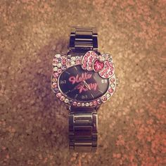 Hello Kitty Watch ❌FINAL PRICE❌Hello Kitty silver rhinestones watch. Brought from the official Hello Kitty store. Needs a battery. Hello Kitty Accessories Watches
