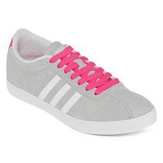 Adidas Grey & Pink NEO Courtset Low Top Sneakers (€41