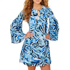Blue/Multi James Floral Abstract Dress - Ossie Clark - Private sales | BrandAlley