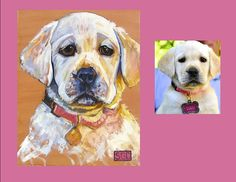 """Baby Lulu"" is a yellow Lab. This is her Color Dog portrait."