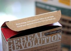 Packaging of the World: Creative Package Design Archive and Gallery: Food Your Body Likes Cereal Revolution