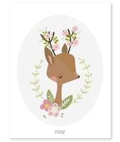 <p>Een prachtige poster met een schattige hertenkop met bloemen aan het gewei van het Franse merk LILIPINSO, mooi als aankleding voor een kinderkamer.<br />De poster is ontworpen door Vicky Carpenter.<br />De poster heeft een A3 formaat, gedrukt op 200 grams papier.</p>