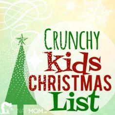 Crunchy Kids Christmas List | The Snap MomThe Snap Mom