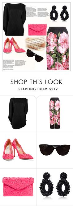 """""""Untitled #306"""" by sty-l-ista ❤ liked on Polyvore featuring Pleats Please by Issey Miyake, Dolce&Gabbana, Valentino, Tiffany & Co. and Bibi Marini"""