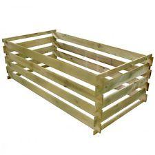 Giardino Contenitore Rettangolare per compostaggio a doghe in legno 0,77 m3