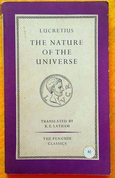 The Nature of the Universe Lucretius (English) Penguin Classics Paperback 1961 Latin Text, Sleepy Bear, Penguin Classics, The Duff, Penguins, Texts, Literature, Universe, English