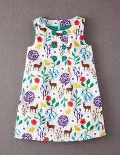 Button Pinafore Dress