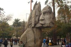 Statue to the aboriginal peoples in Santiago s main Square (Plaza de Armas).
