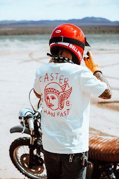 Faster Than Fast White Tee Tee Shirt Designs, Tee Design, Camisa Polo, Biker T Shirts, Fashion Collage, Apparel Design, Custom Clothes, Streetwear Fashion, Cool Shirts