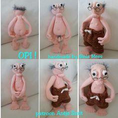 """Opi"" patroon van Antje Smit op fb site Amigurumi handnade by Ginia"