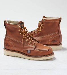 Brown Thorogood Moc Toe Boot #ae