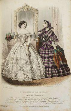 In the Swan's Shadow: Le Moniteur de la Mode, November 1855.  Civil War Era Fashion Plate