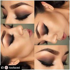 Love this glam, chocolatey eye look by @lupe_mua! She used our Chocolate Bar Palette to get the look. #regram #chocolatebarpalette #toofaced