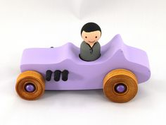 Wooden Toy Car, Hot Rod 1927 T-Bucket From the Hot Rod Freaky Ford Series The body is cut from a solid piece of pine with a scroll saw, . Toys For Boys, Kids Toys, Children's Toys, T Bucket, Handmade Wooden Toys, Waldorf Toys, Preschool Toys, Childrens Room Decor, Toddler Toys