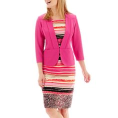 9fe45f4a463 Danny   Nicole® 3 4-Sleeve Textured Knit Jacket Dress - Petite found