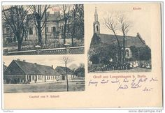 Langenhagen b Borin Kr Greifenhagen Gasthof Schloß Kirche 24.7.1913 Gryfino Borzym