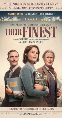 Directed by Lone Scherfig. With Gemma Arterton, Sam Claflin, Bill Nighy, Jack Huston. A British film crew attempts to boost morale during World War II by making a propaganda film after the Blitzkrieg. Films Hd, Comedy Movies, Hd Movies, Movies To Watch, Movies Online, Movies And Tv Shows, Movie Tv, Film Serie, Romantic Movies