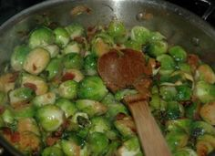 Low Carb Diet Recipes - Bacon shallot brussel sprouts. These. Are. DIVINE. Good recipe for pork loin too...but NOT low carb