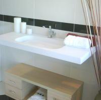 Stone baths and basins.