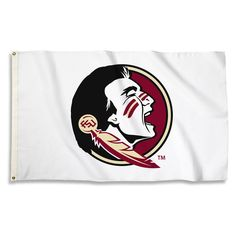 Florida State Seminoles White Team Spirit Flag