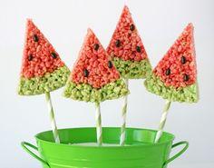 Watermelon Rice Krispies Treats · Edible Crafts   CraftGossip.com