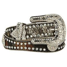 "Blazin Roxx® Ladies Rhinestone Western Belt N35120222Blazin Roxx® 1 ½"" ladies mossy oak break up camo bling belt"