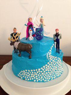 Olivia's Frozen birthday cake