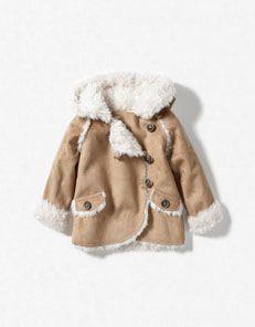Zara Baby, jacket with sheepskin hood | Ideas, threads | Pinterest ...