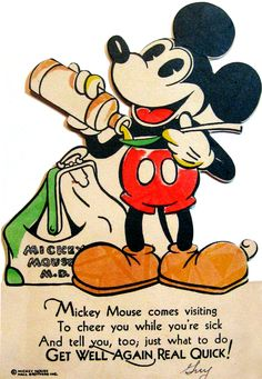 Mickey Mouse, M.D. Totally sending this out when my friends are sick