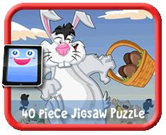 Bunny Chase - 40 Piece Online jigsaw puzzle for kids