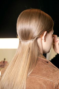 The Most Anticipated Hair Trends For Spring 2013 - The New Low Pony - Michael Kors