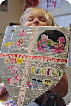 Make a shield of all the characteristics and people that make the child feel strong and protected. Could be used with a personal safety lesson too.