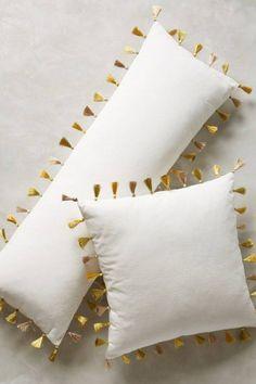 bastelideen selber machen dekoideen DIY IDeen bommel troddel gold