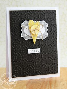 really like this card by Debby.  I think that it would make a great anniversary card!