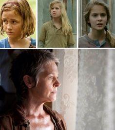 Sophia, Mika, Lizzie, Carol #TheWalkingDead