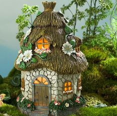 Miniature Round Solar Fairy Garden