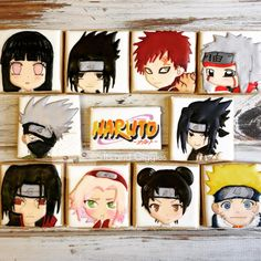Naruto cookies by Sifts and Giggles    Chibi Anime Edible Fanart