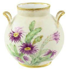 Limoges Floral Hand-Painted Porcelain Vase France