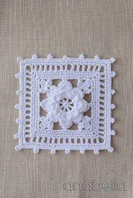 Crochet lace motif nr 1 by Anabelia