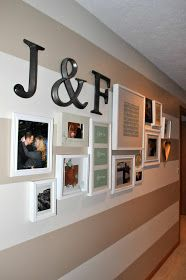 I like the idea of a gallery wall just for the Husband and I. Pictures and mementos.