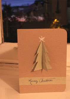 cute christmas home made card tree