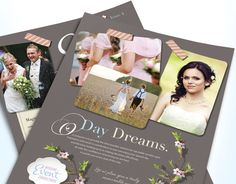 Make memorable brochures, flyers, newsletters, ads, and stationery to start marketing a wedding planning business. Dream up your own creative designs for a wedding consultant or event planner using StockLayouts templates!