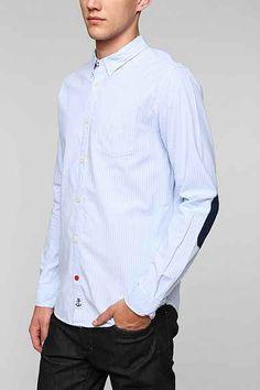 CPO Berwick Stripe Drop-Tail Button-Down Shirt