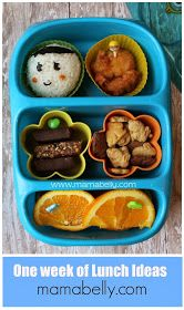 One week of school lunch ideas - mamabelly.com