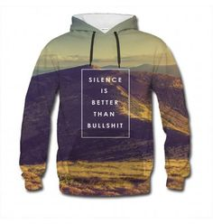 We try to live by this motto. Just be careful not to wear this jumper to your job interview, it's the only place and time where bullshit is actually better than silence. www.bittersweetclth.com
