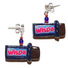 Wispa earring! yum Candy, Popular, Jewellery, Personalized Items, Earrings, Ear Rings, Jewels, Stud Earrings, Schmuck