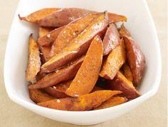 Maple-Glazed Sweet Potato Wedges