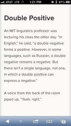 Double positive