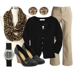 Dress up those khakis with some animal print.