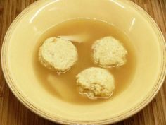 Moveable Feasts: Parmesan Dumplings in Capon Broth